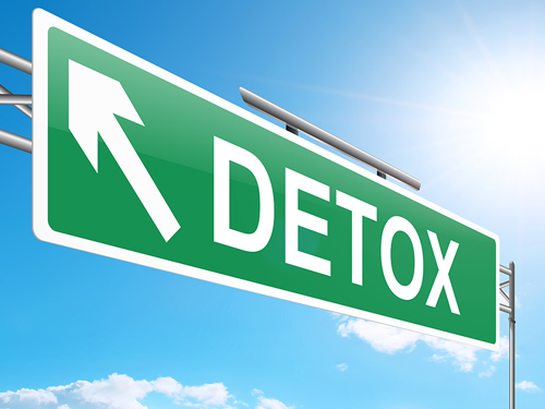 substance detoxification sign