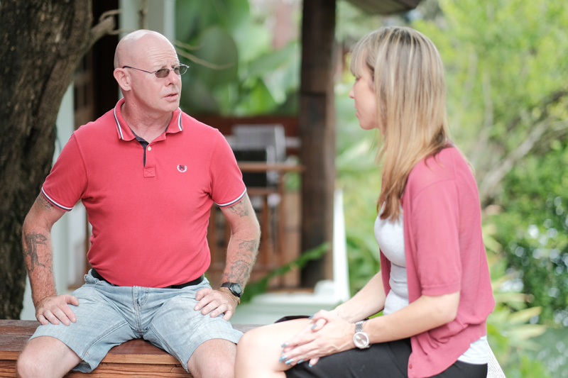 Individual counselling session at The Dawn alcohol rehab in Thailand