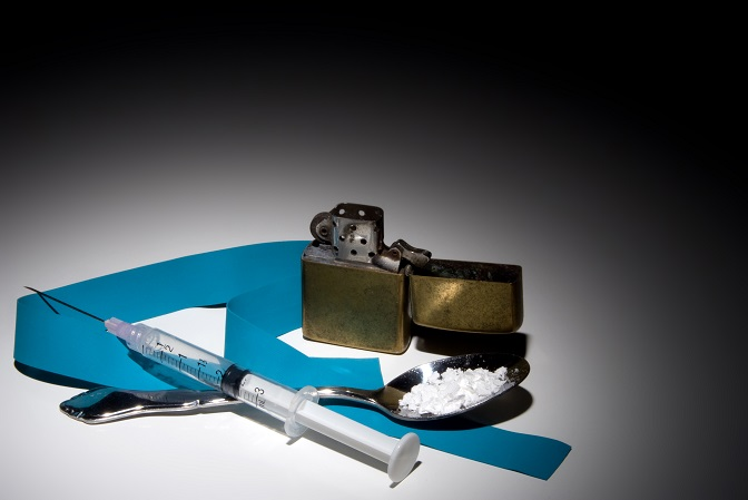 Equipment used in the preparation of illegal street drugs.