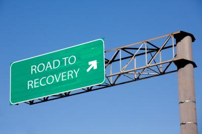 drug recovery road sign