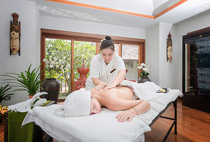 Onsite spa and massage therapy at The Dawn rehab centre in Thailand