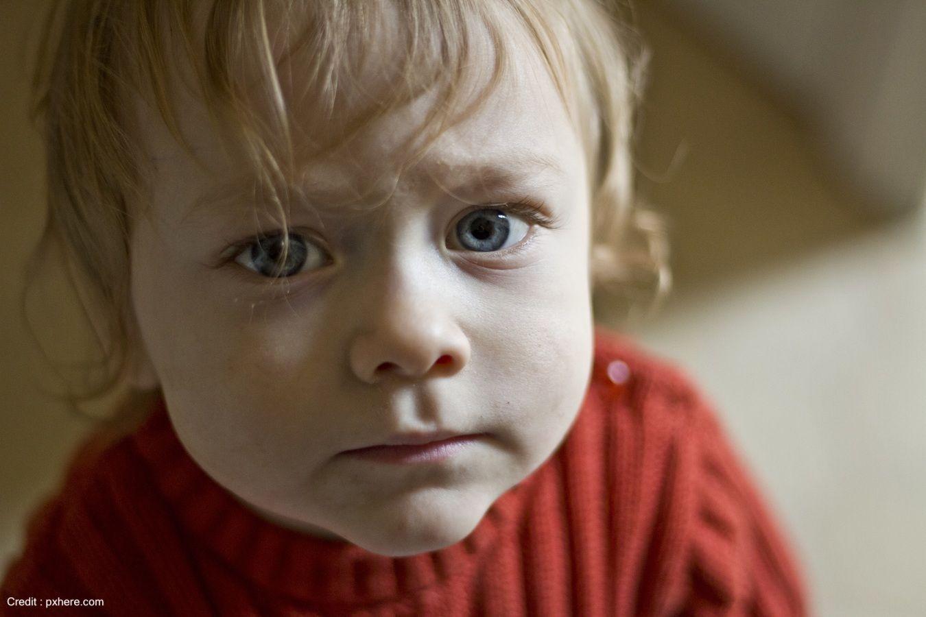 Close up shot of a baby
