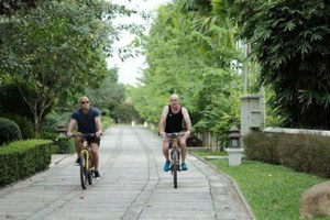 Bicycles are available for complimentary use at The Dawn Rehab Thailand