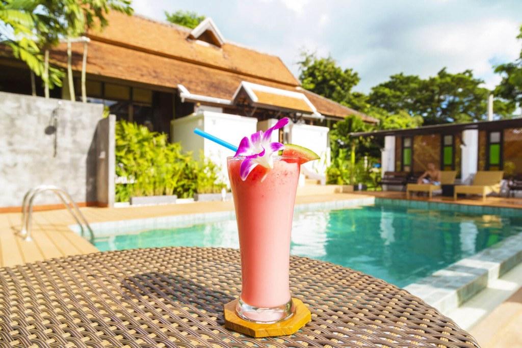 Swimming Pool at The Dawn Gambling Addition Rehab Thailand