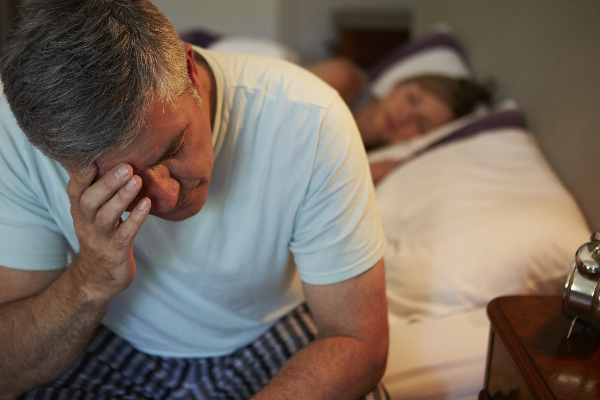 Symptoms of burnout include insomnia, which can compound sensations of fatigue and the inability to function efficiently.
