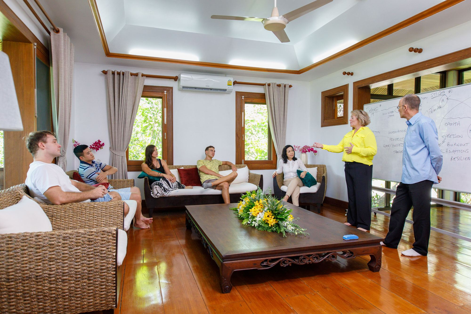 Group Counselling Therapy at The Dawn Rehab Thailand