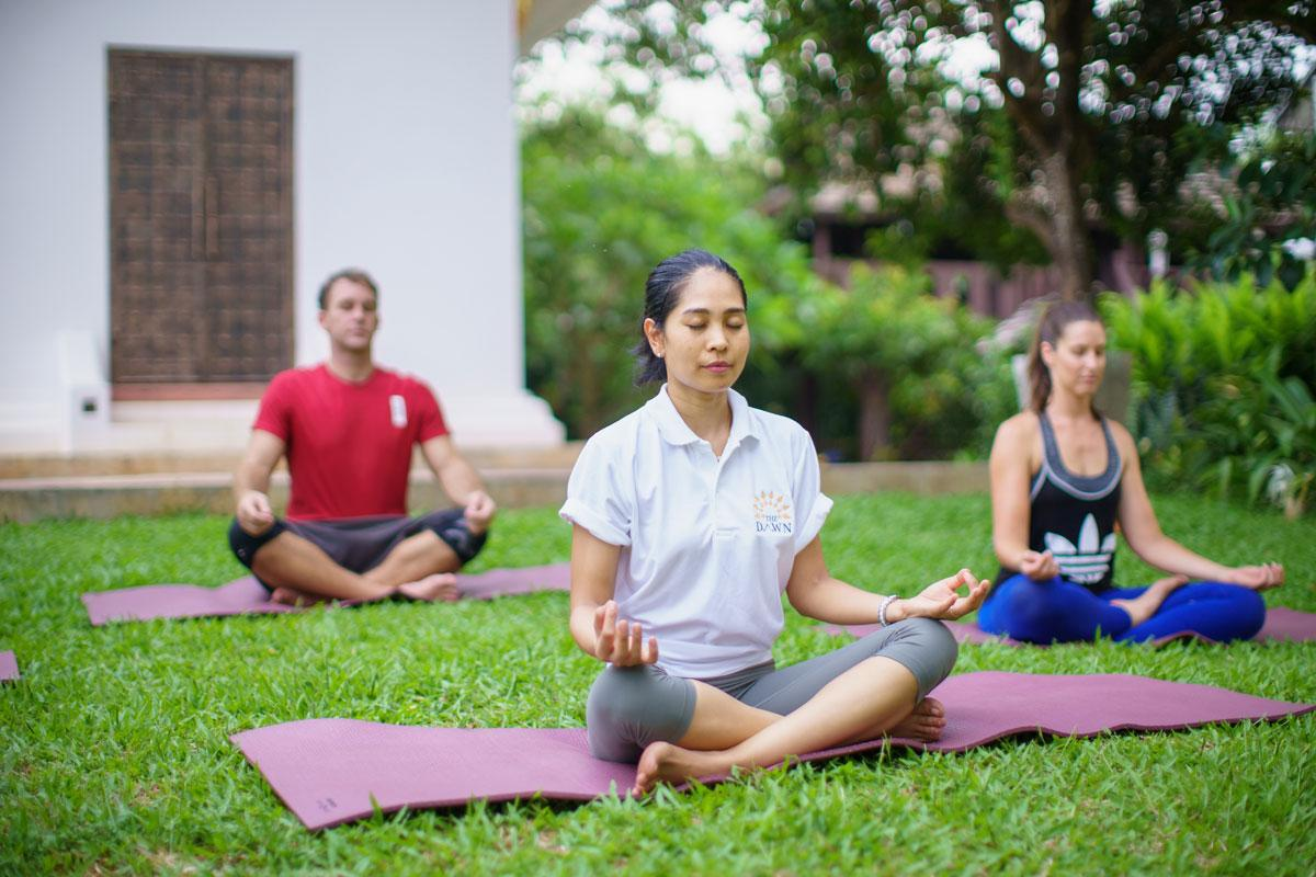 Mindfulness class - a holistic element of addiction rehab Thailand at The Dawn