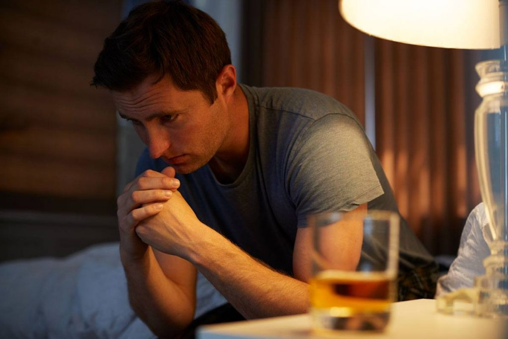 a man decided to drink alcohol to calm down his anxiety