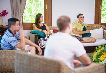 Counselling group session at The Dawn