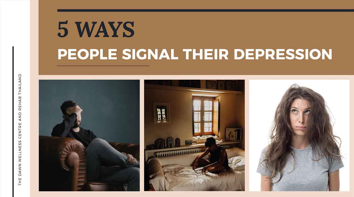 Understanding more about how people signal their depression can help clarify what is going on internally and know when to get help.