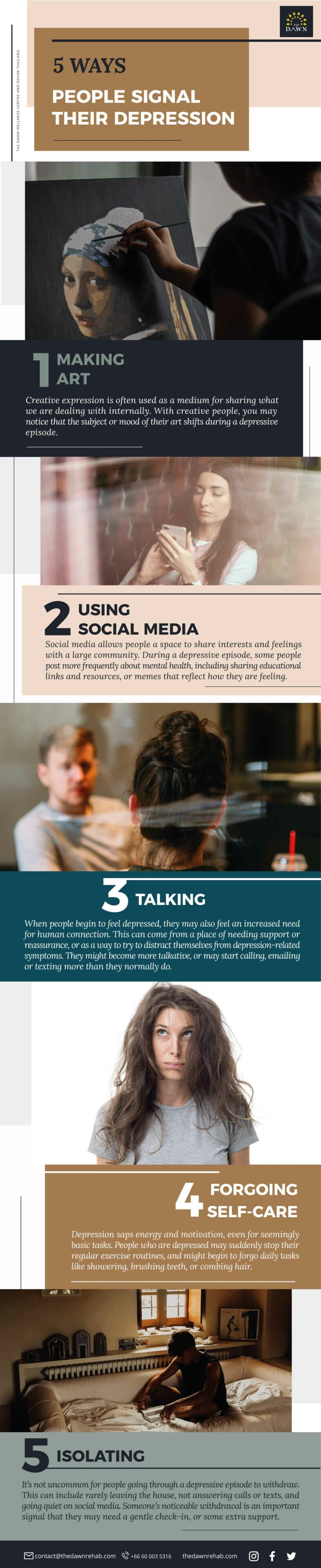 Learn more about how to identify when someone is entering a depressive episode in this infographic.